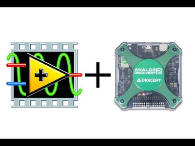 Analog Discovery 2 USB Oscilloscope + LabVIEW