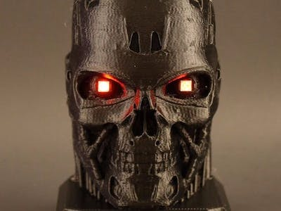 Electrified Terminator with LED Eyes