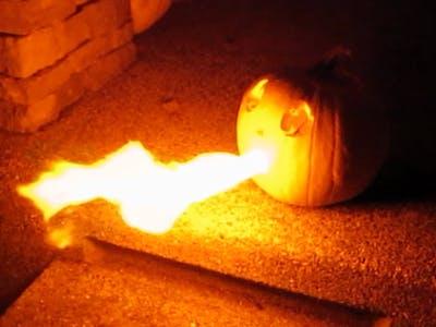 Flame Throwing IoT Pumpkin