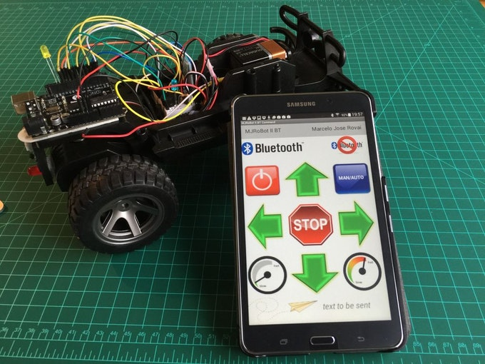 Hacking a rc car to control it using an android device