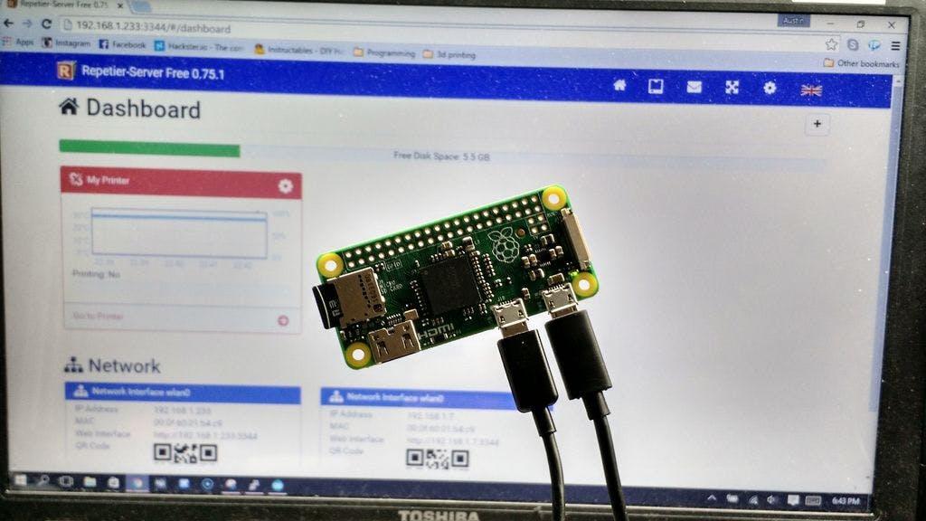 Raspberry Pi Zero + Repetier Server