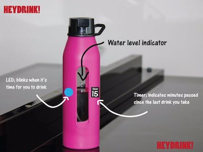 HeyDrink! - Bottle with Auto-reminder