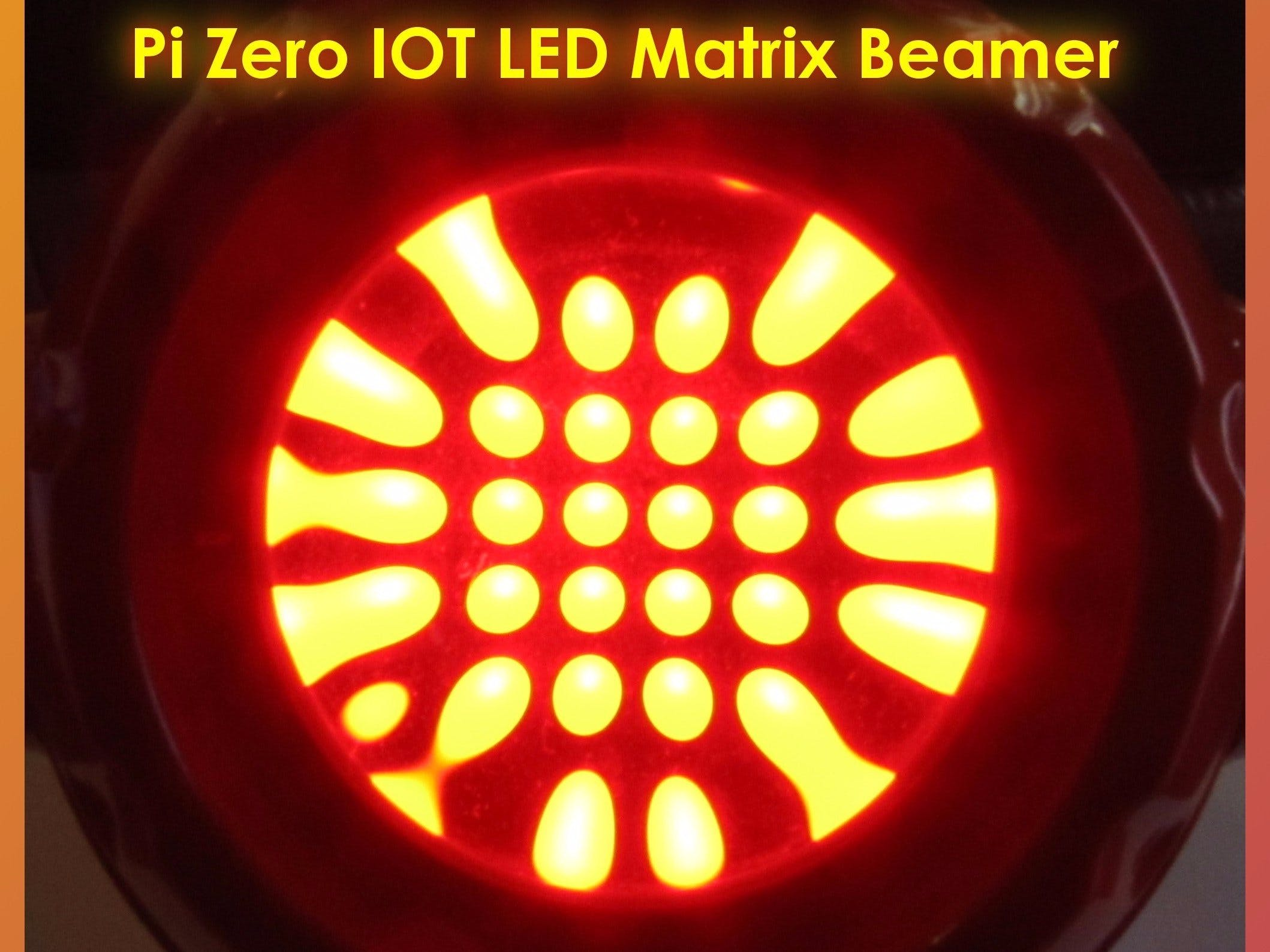 Pi Zero Led Matrix Beamer