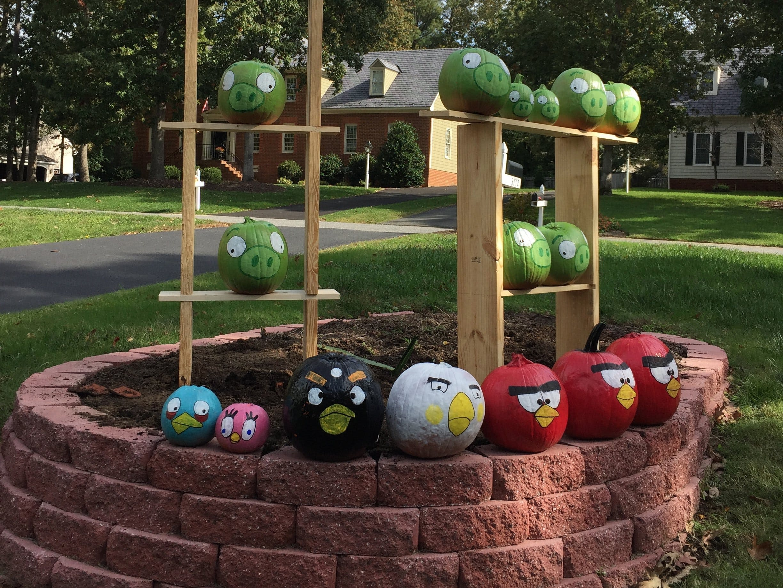 Angry Birds Pumpkin Scene