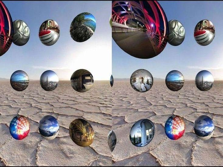 VR environment with realtime environmental sensing data
