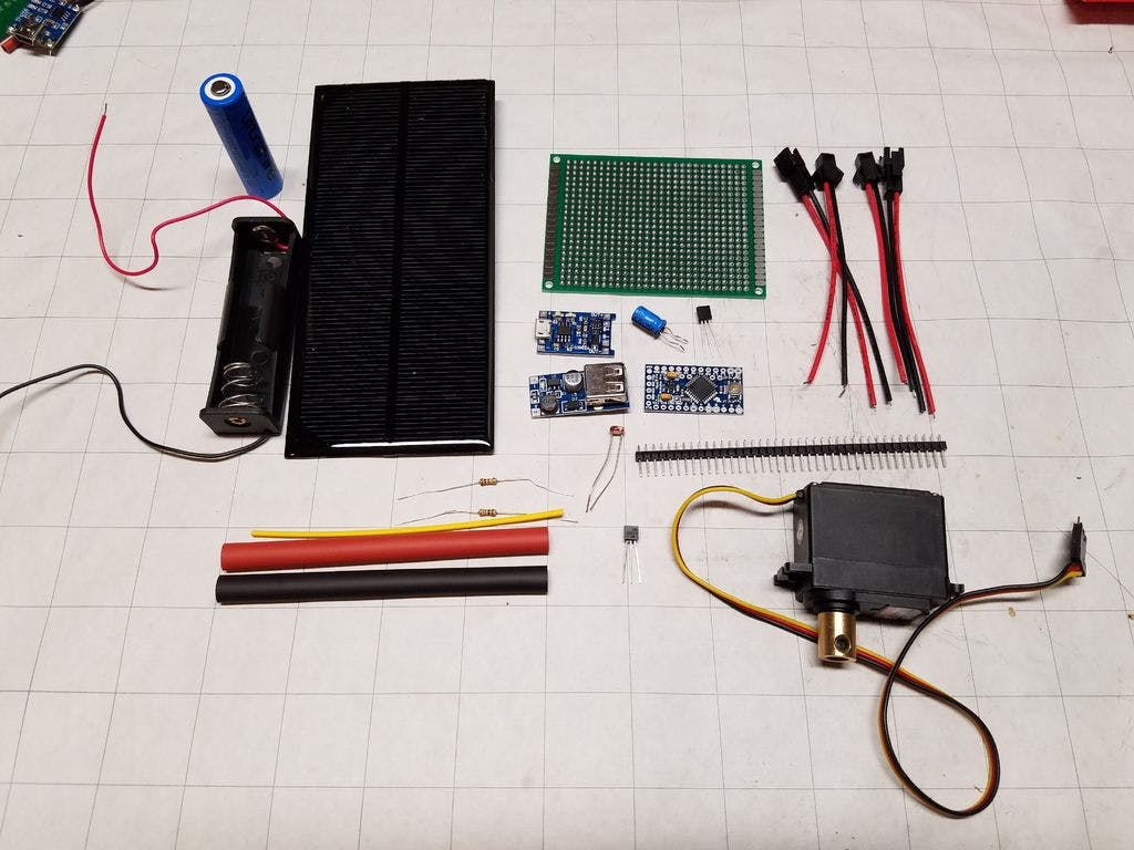 Smart Blinds Arduino Circuit Pull Up Resistor Solar Battery Charger