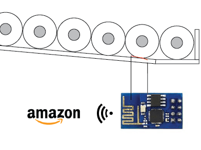 Amazon DRS enabled toilet paper shelf