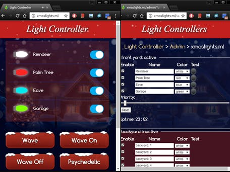 ESP8266 IoT Holiday Light Controller