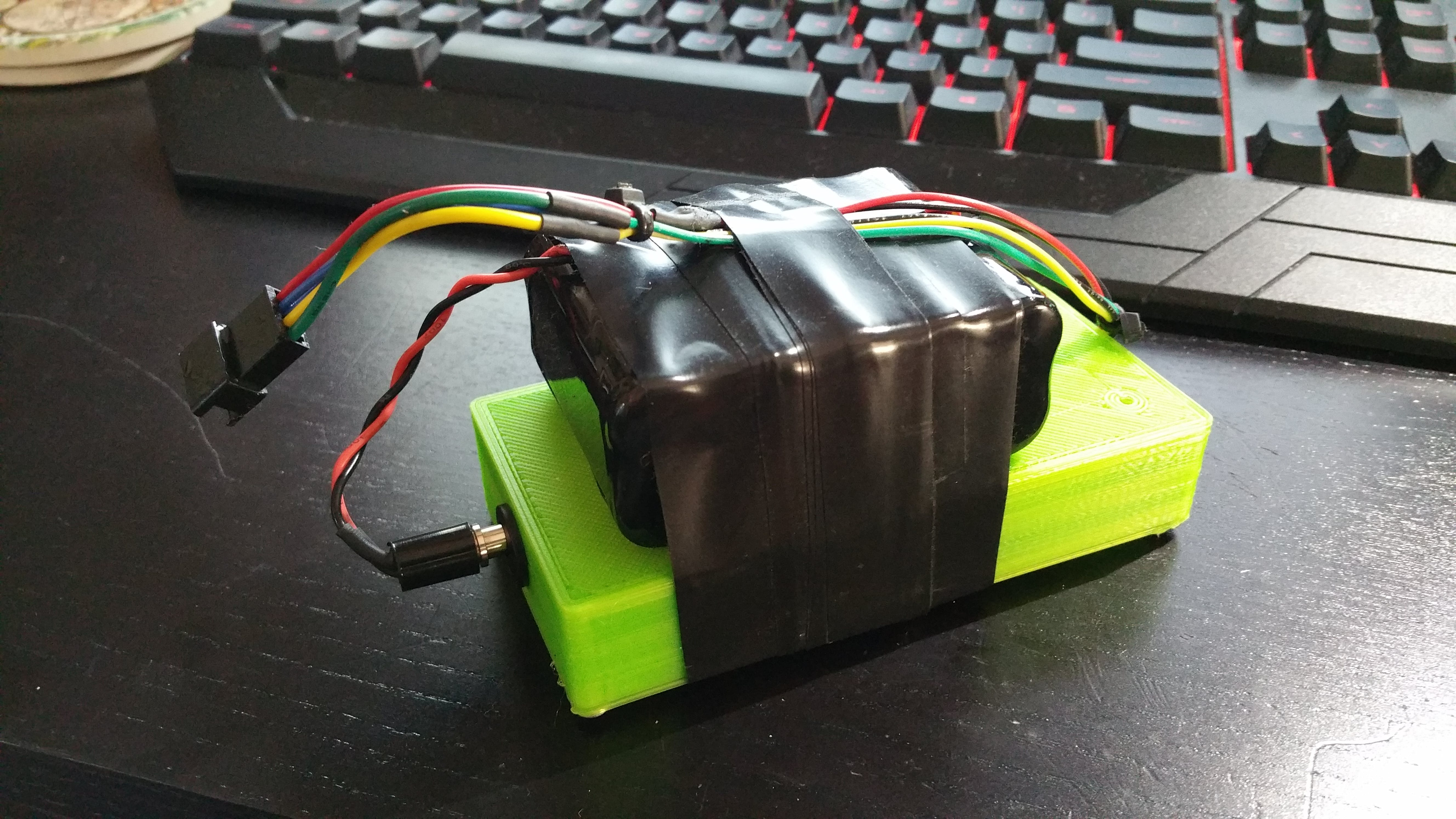 Control box with external 12V battery