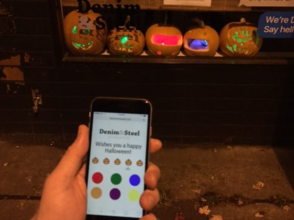 Particle-Driven LED Pumpkin Patch