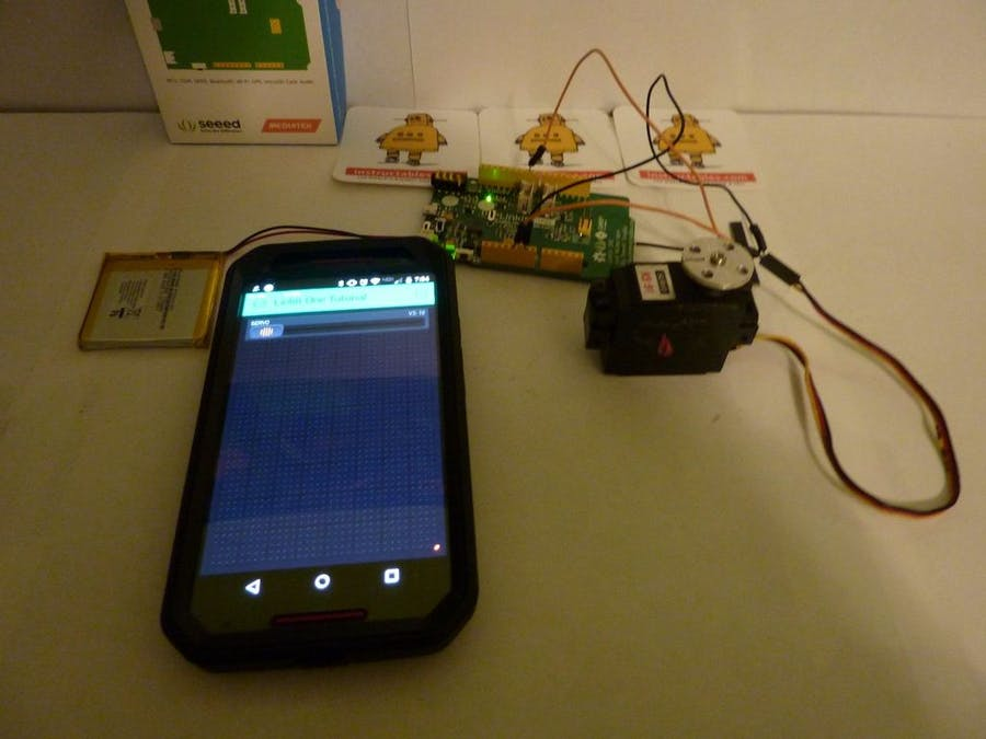 LinkIt One with Blynk to Control a Servo