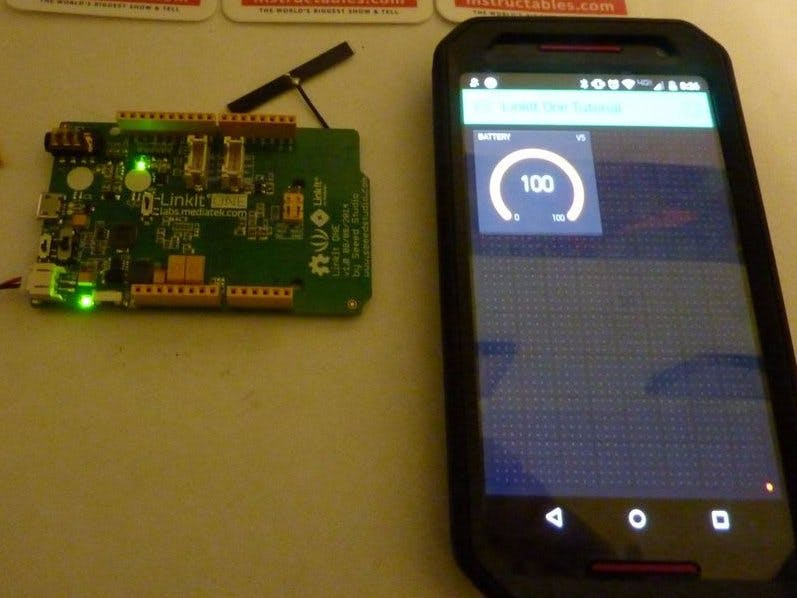 LinkIt One + Blynk Battery Indicator