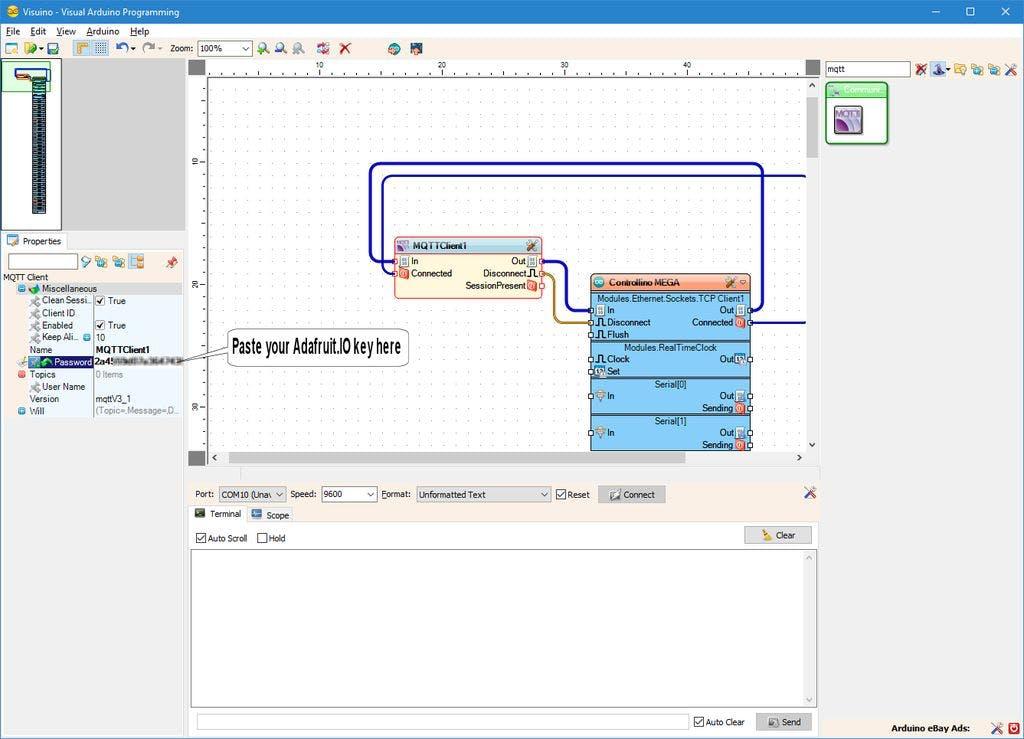 Remote Access And Control Controllino with Adafruit IO MQTT
