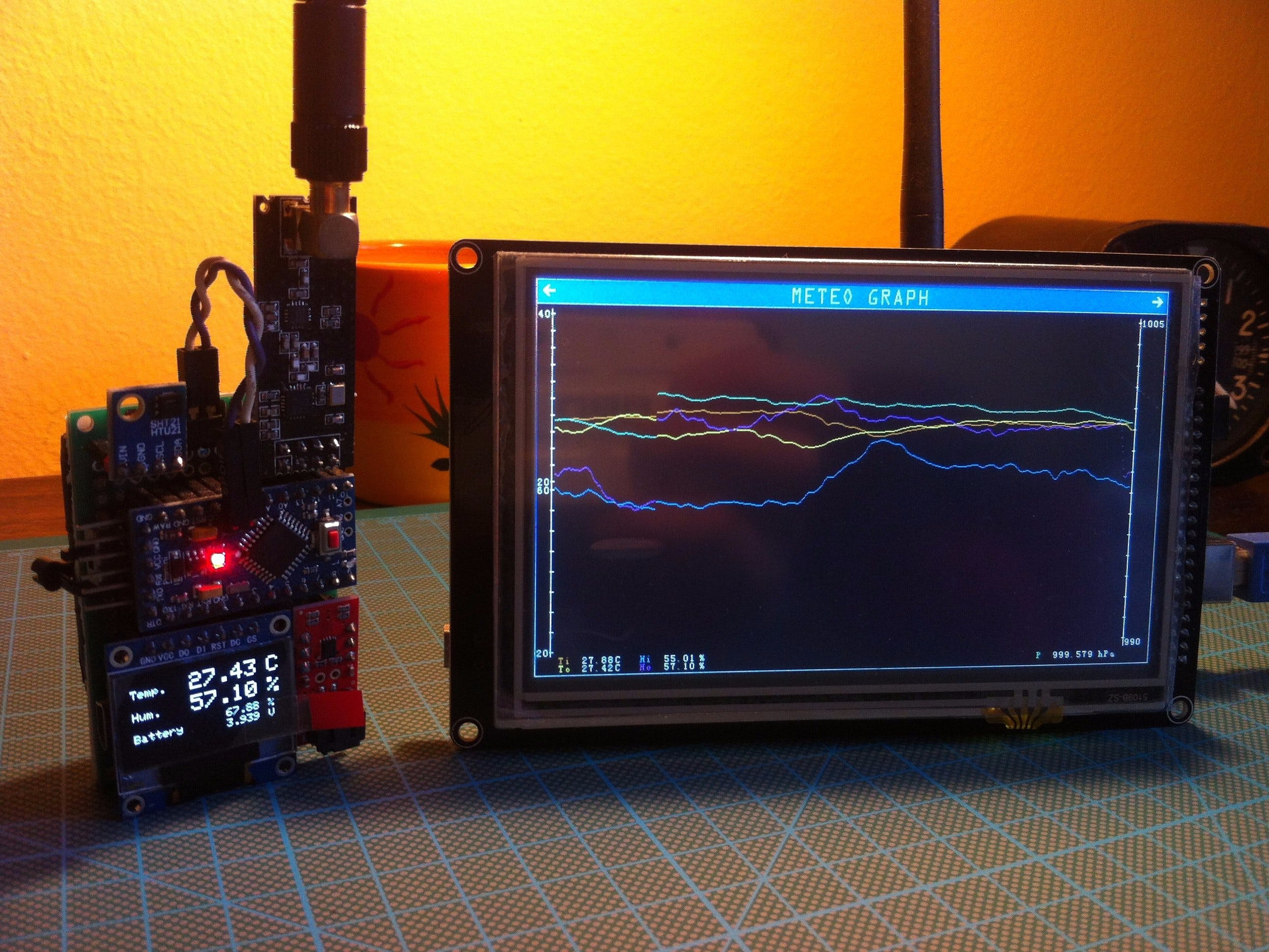 Arduino Based Weather Station with Remote Sensor Unit