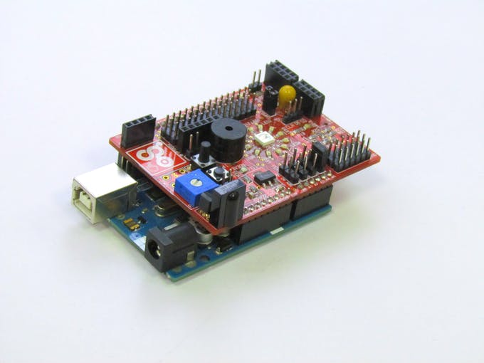 LDR is connected to A3 pin on arduino .To enable the onboard sensor you need to put jumper on SEL3