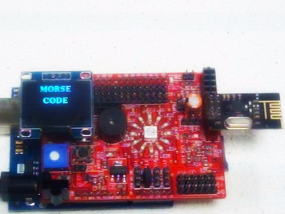 Exploring Morse Code with Idiotware shield