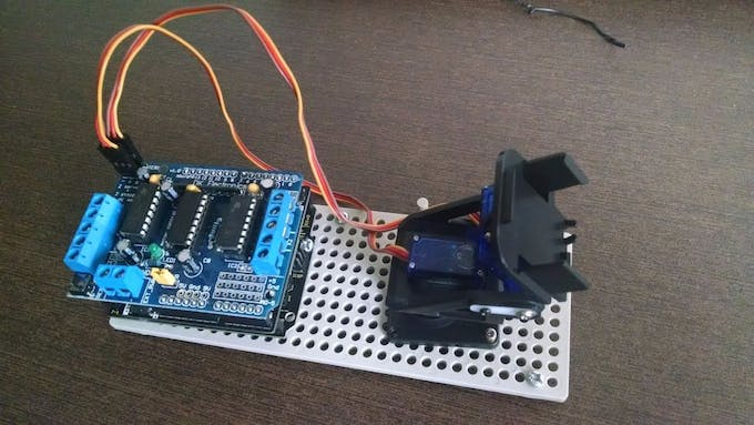 All components fixed on a plastic base
