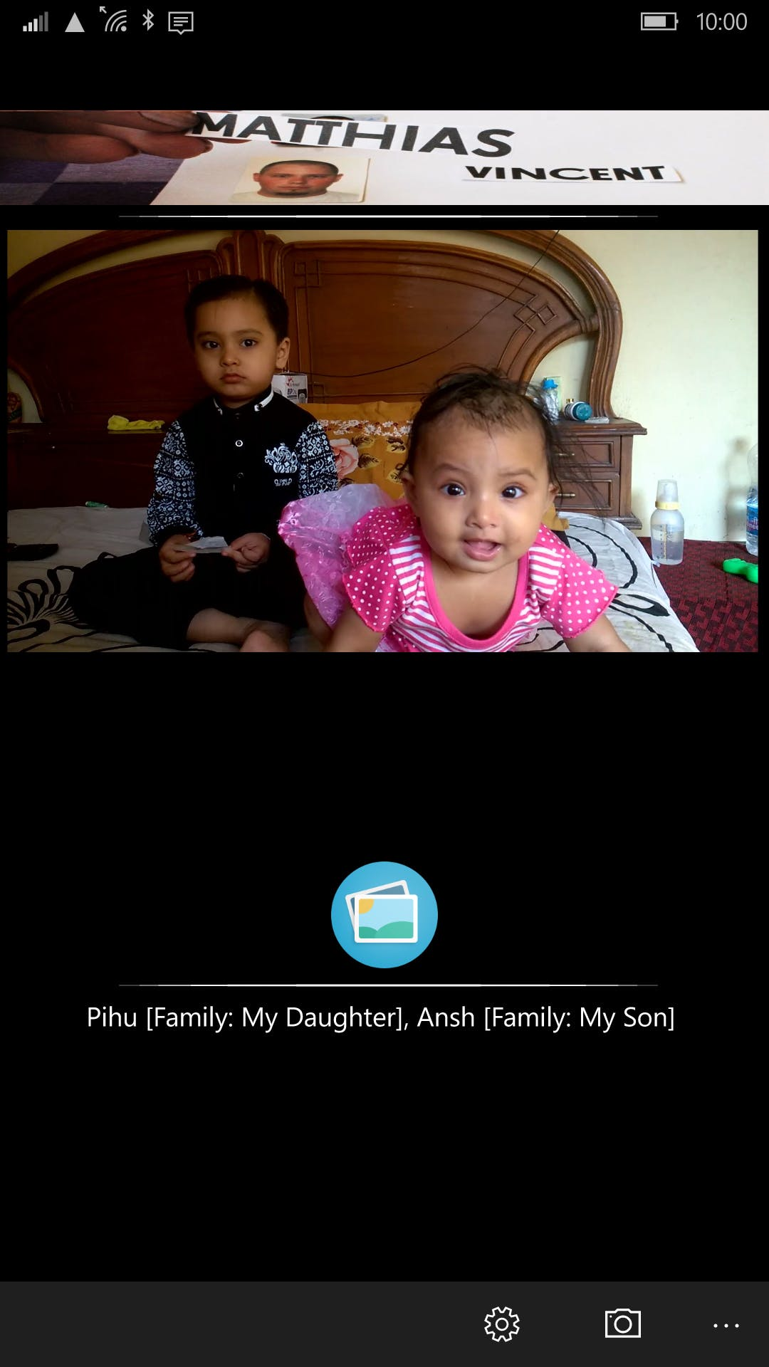 App recognizes my Kids!