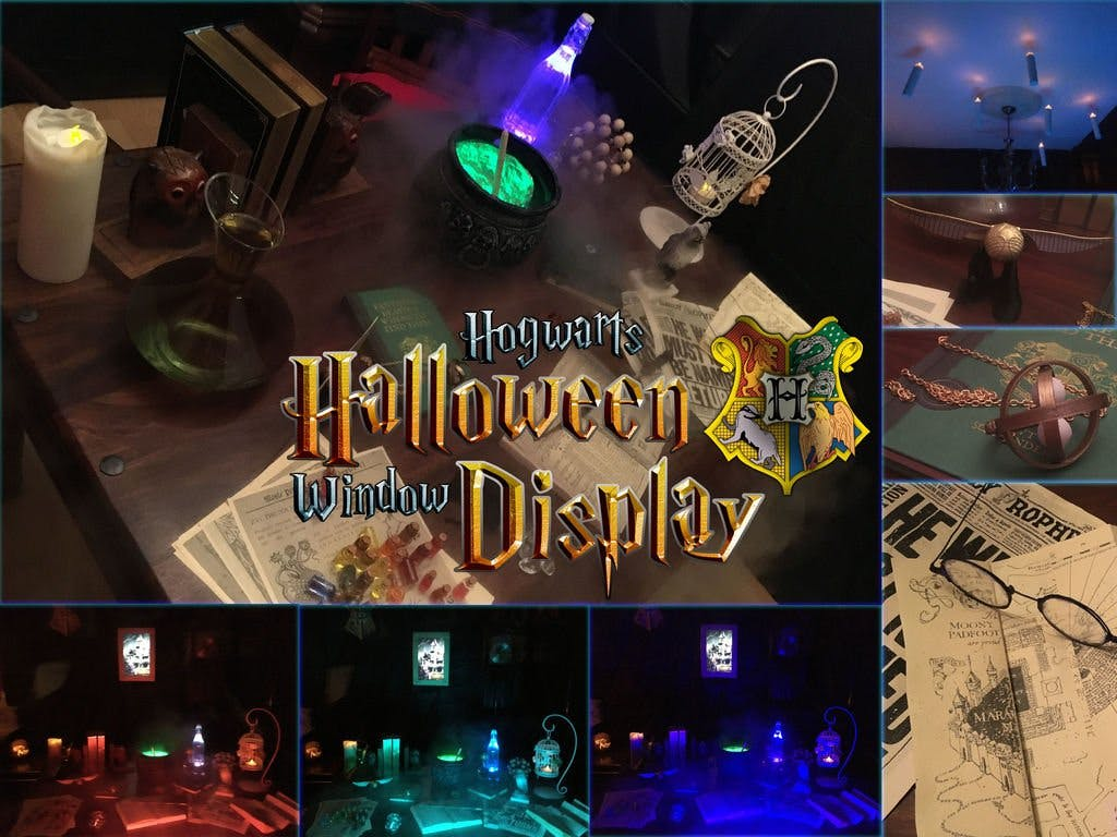 Hogwarts Halloween Window Display