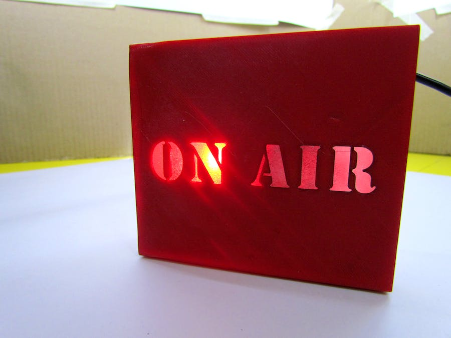 IOT On Air Sign
