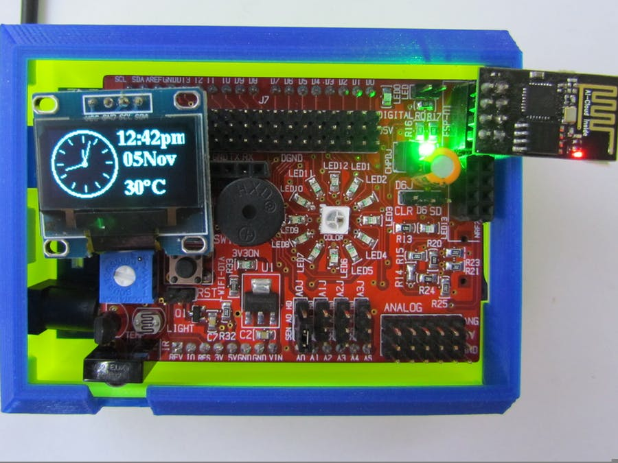 NTP Clock Using OLED Display