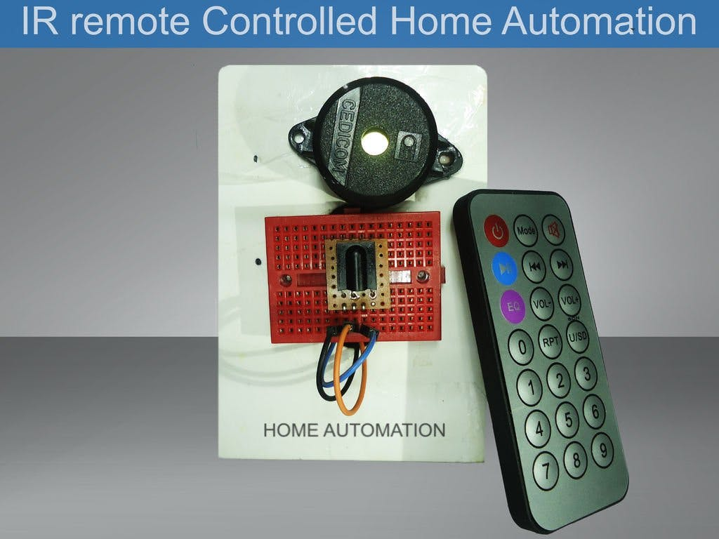 IR Remote Controlled Home Automation
