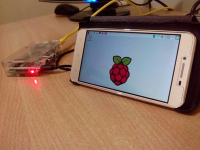 Run Raspberry Pi on Smart Phone