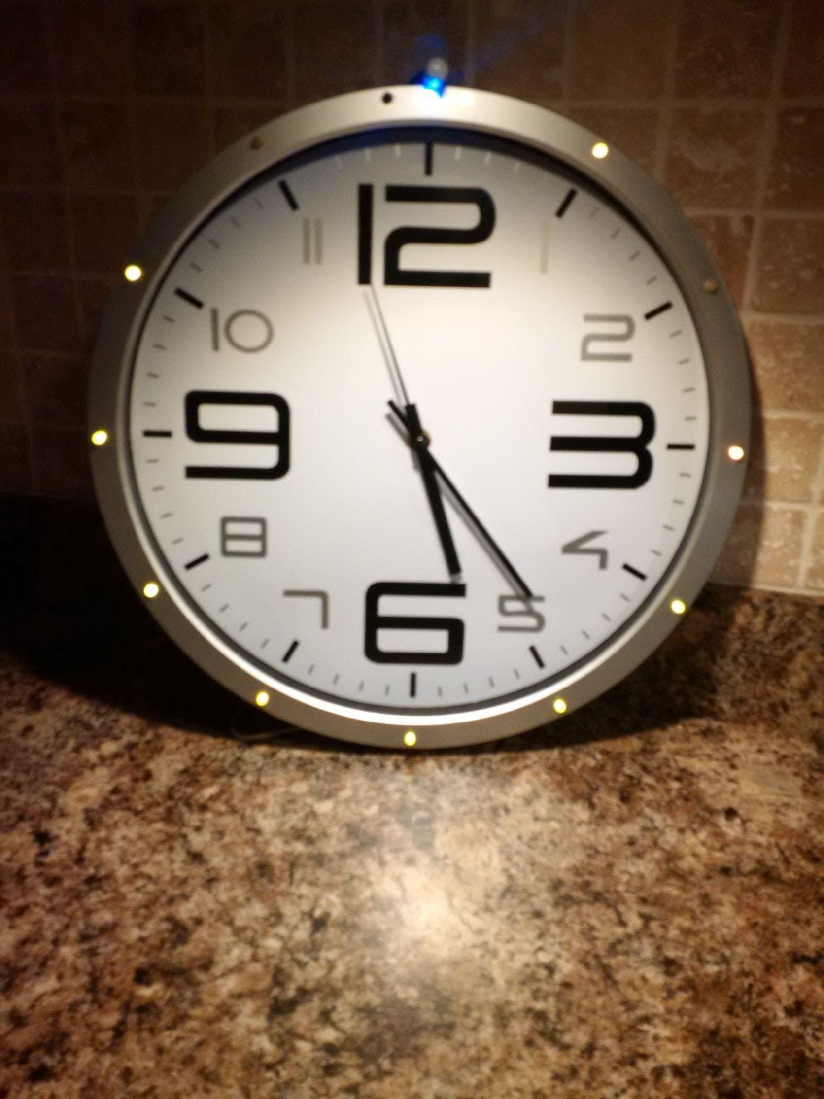 Motion Detector Clock