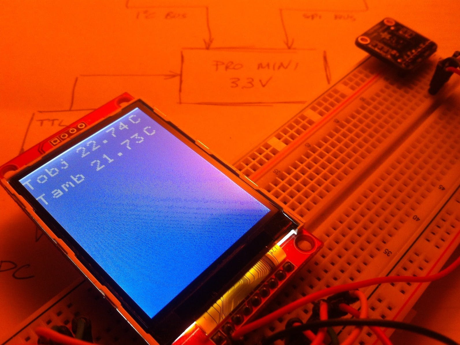 Arduino Based IR Thermometer with TFT Display and TMP006