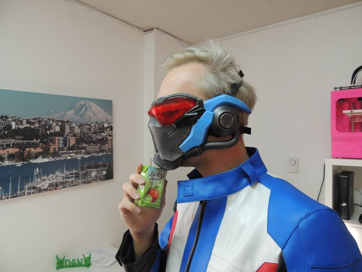 Soldier: 76 Light Up Mask - Hackster io