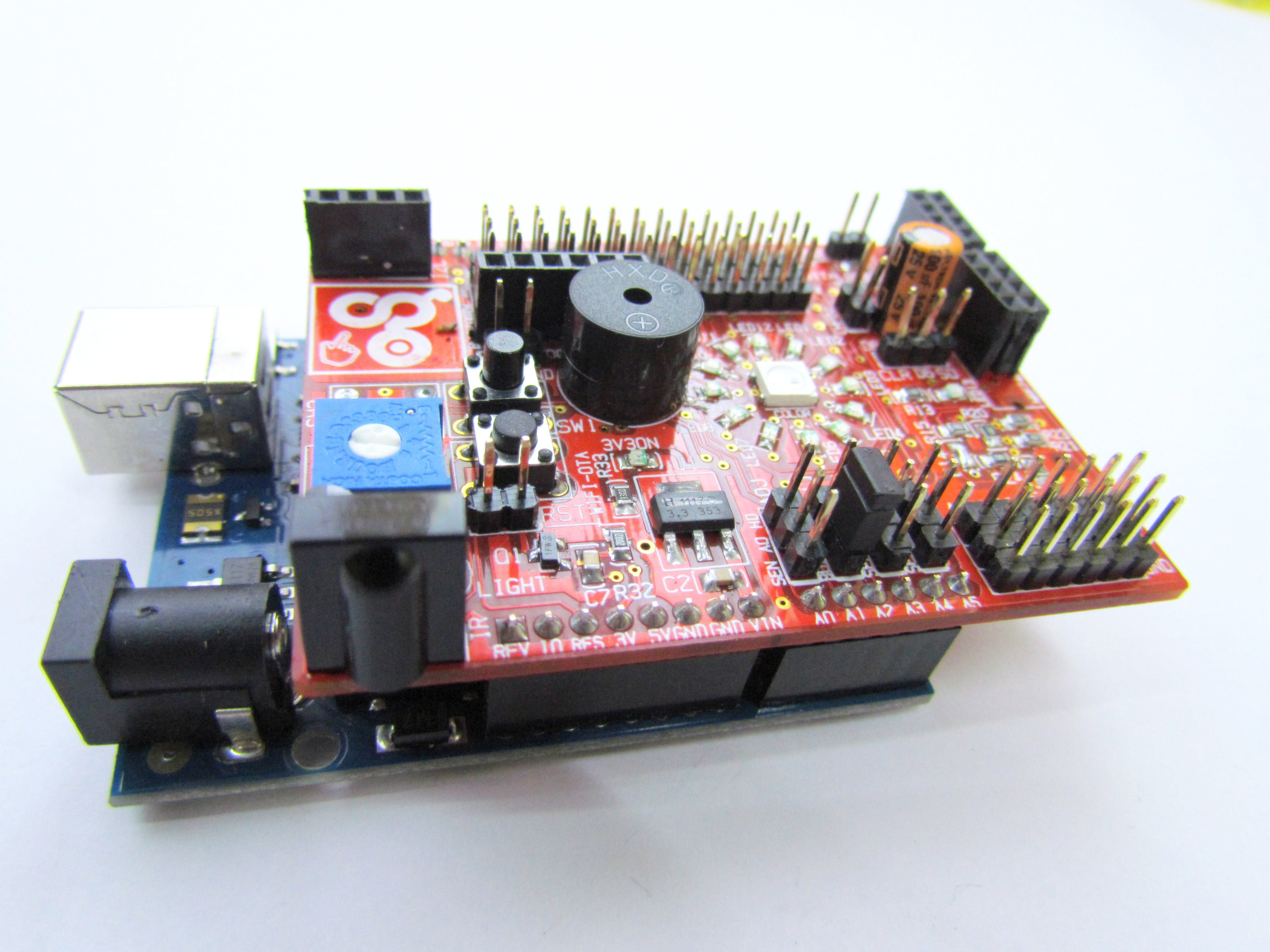 Connect jumper to SEL1 to enable the on board Buzzer.