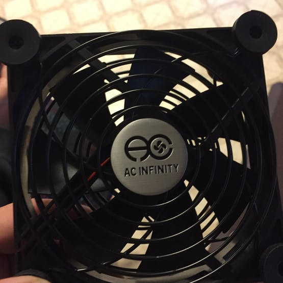 The fan - you need to remove the housing...