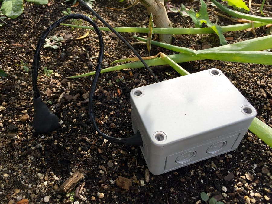 Soil moisture sensor over cellular for remote garden plot for Soil moisture sensor