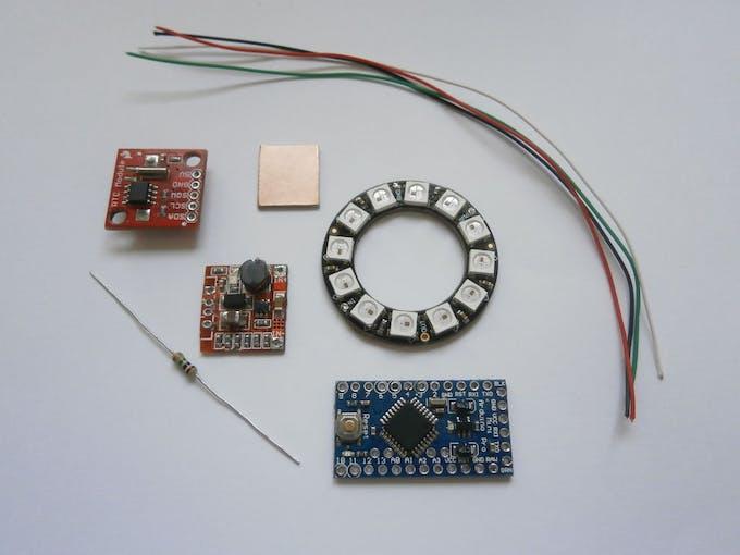 Pixie an arduino based neopixel wristwatch