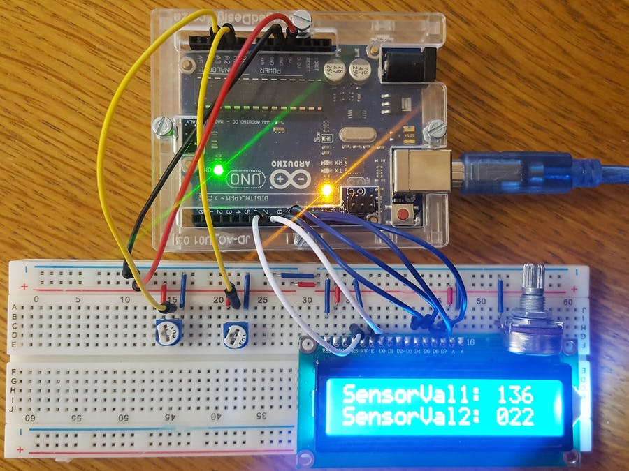 Displaying Sensor Values on LCD - Arduino Project Hub