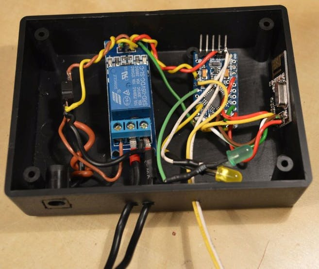 Inside the receiver (before adhesive was put on the parts)