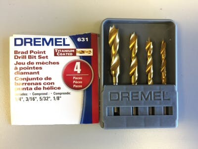 Brad Point Drill Bits - Great for Drilling Holes in Plastic