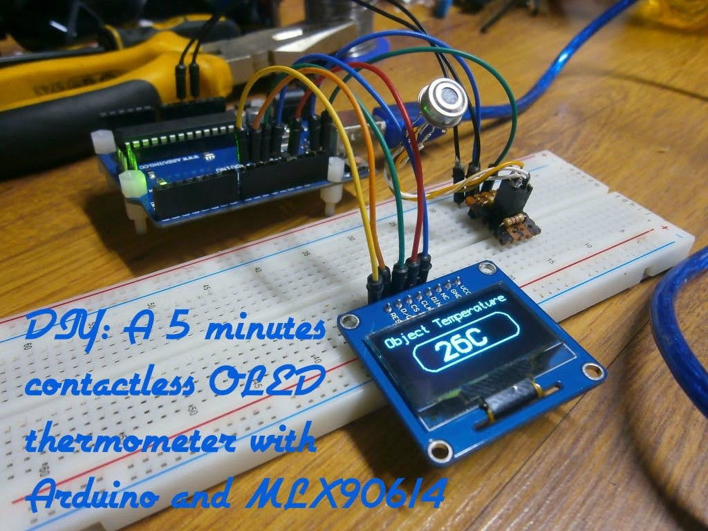 DIY: A 5 Minutes Contactless OLED Thermometer With Arduino