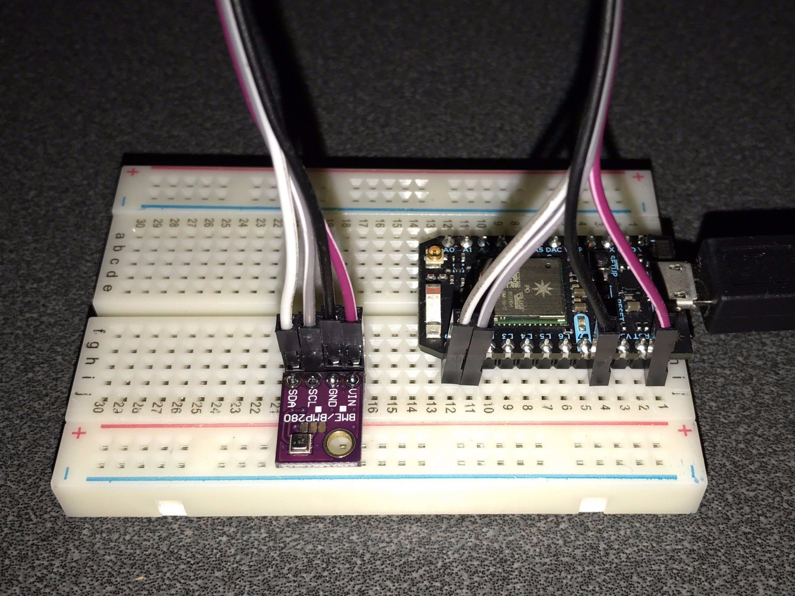 BME280 Thingspeak Particle Bridge