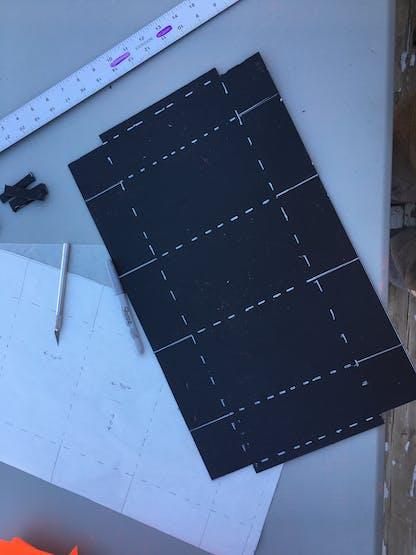 Cutout pattern for box 7