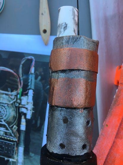 PVC reinforcing the barrel