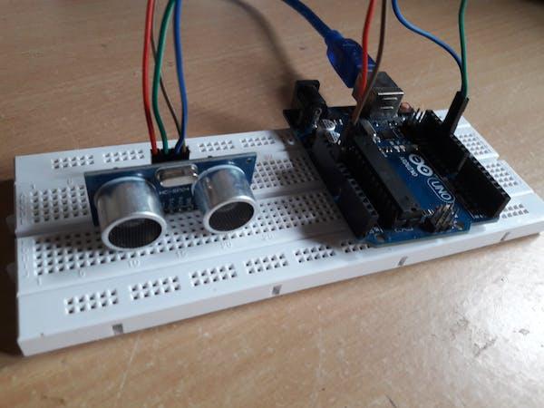 Ultrasonic Range Detector Using Arduino And Sr 04f