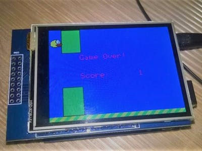 "Touch display: Game ""Flappy Bird"""