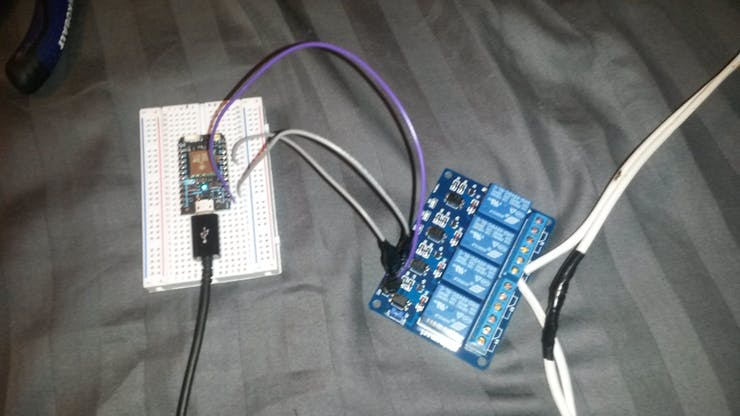 Photon connected to the fan through a circuit relay