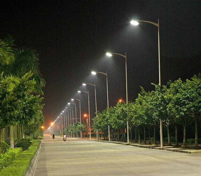 Street lights turning on by themselves at night