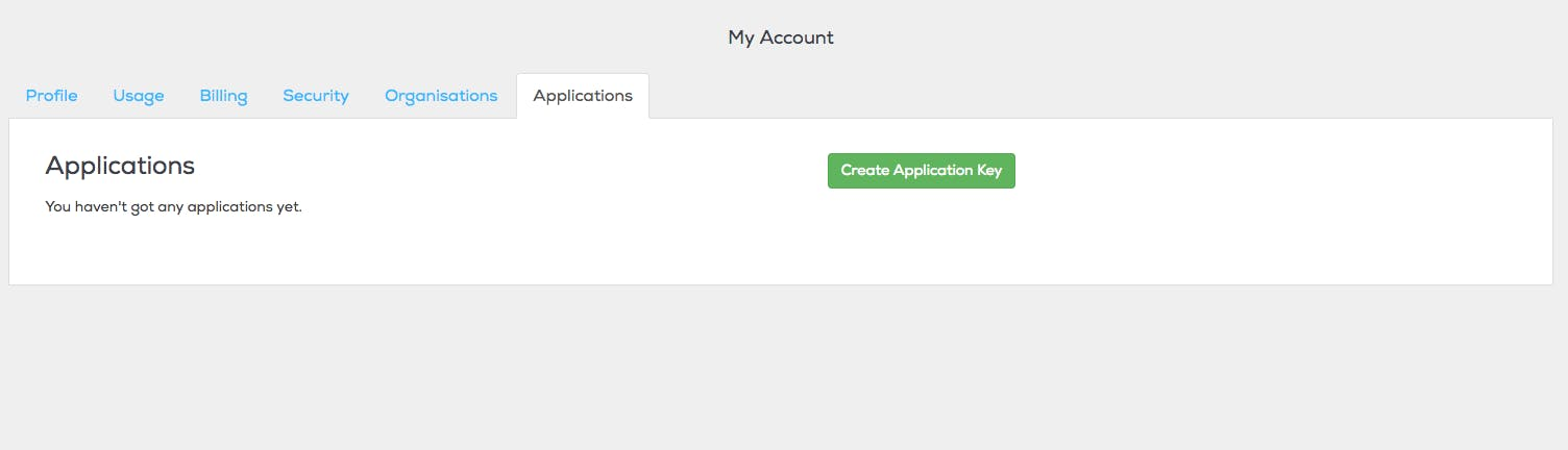 My account > Applications