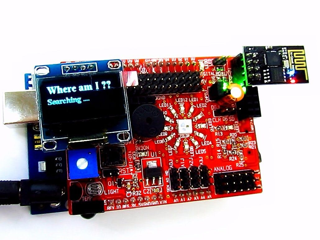 Location Display With Idiotware Shield