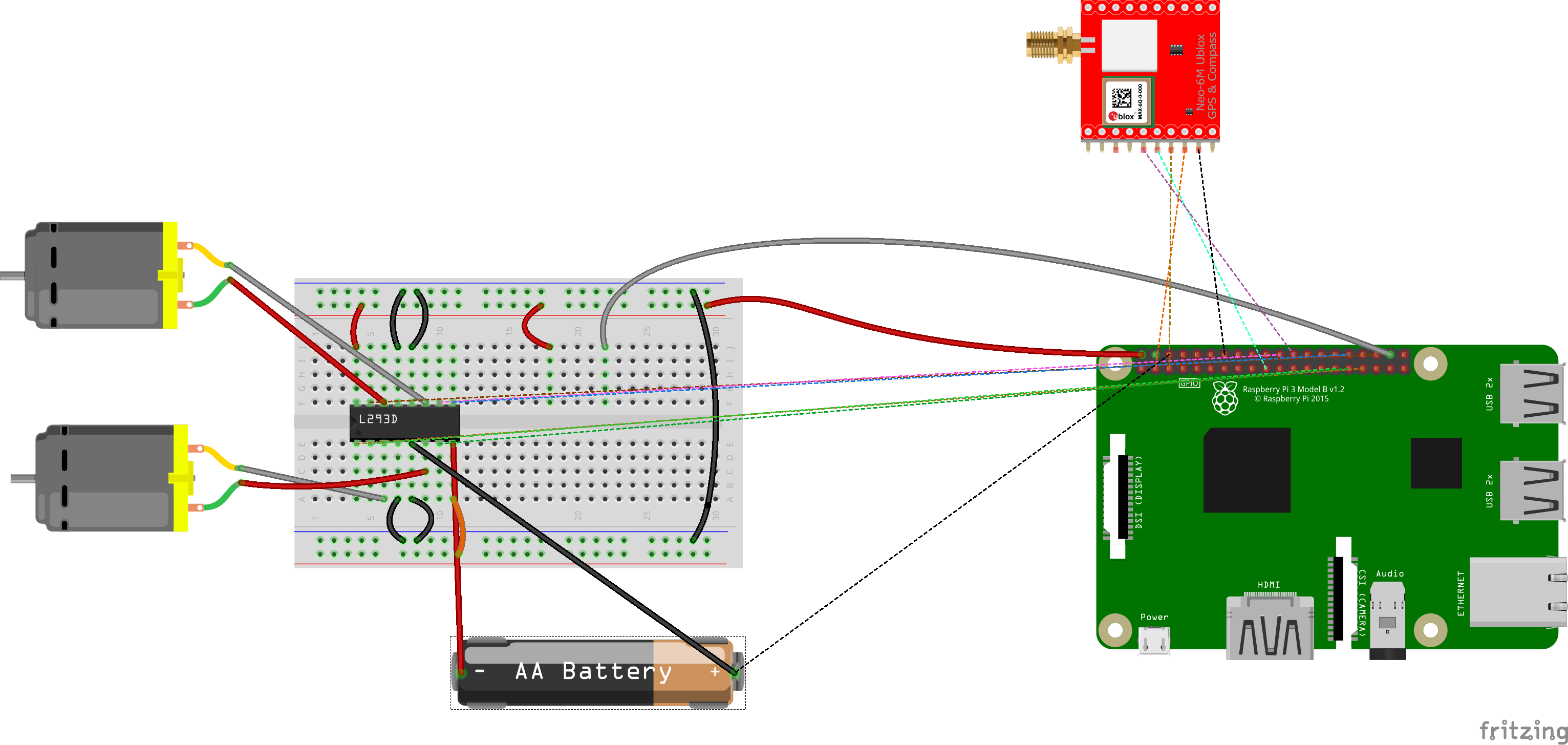 Remote Controlled Navigator L293d Pin Diagram Wiring In The Breadboard