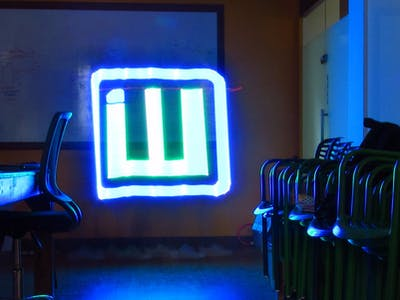 Light painting stick with idiotware shield