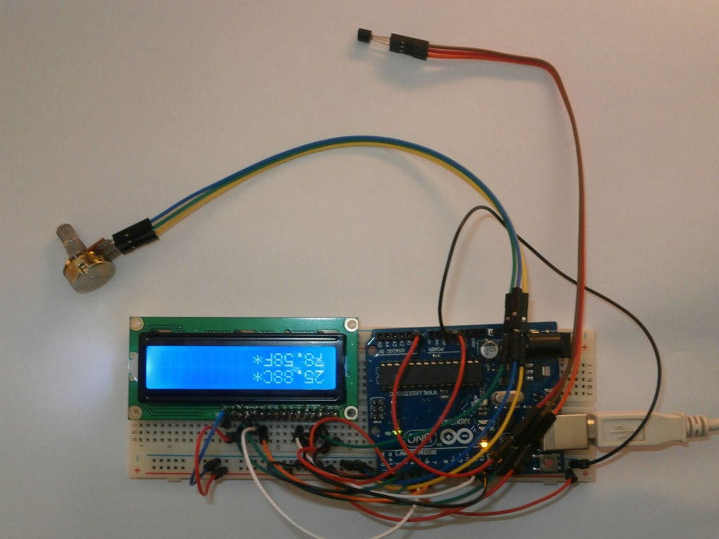 Making Lcd Thermometer With Arduino And Lm35 36 Electronic Circuit
